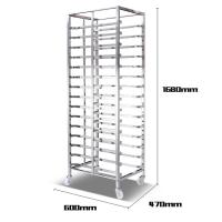 Aluminum Alloy Bakery Bread Oven Baking Tray Cart Trolley Cake Rack Cart For Bakeware Manufactures