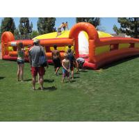 Yellow / Red Outdoor Inflatable Games Inflatable Soft Mountain For Kids Racing Manufactures