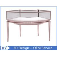 Stainless Steel Frame Jewelry Display Cases , Jewellery Showroom Furniture