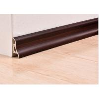 Luxury Wooden White Plastic PVC Decorative Skirting Boards / Cover For Veranda Manufactures