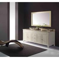 Double Sink White Luxury Plywood Marble Bathroom Vanity (GBW204) Manufactures