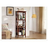 Three Shelf Tall Sturdy Narrow Wooden Book Case / Bookcase For Home Manufactures