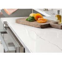 Quality Glossy Natural Man Made Quartz Countertops With Beautiful Stripe for sale
