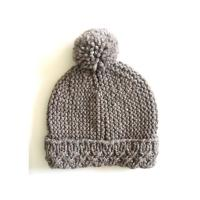 Custom OEM Hand Knit Hats Handmade Baby Beanies Crochet Caps and Photo Props for Newborns Boys & Girls Modern Natural Manufactures