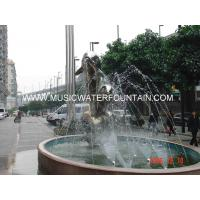 Dolphin Stype Sculpture Water Fountains Stainless Steel Material Made Manufactures