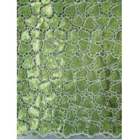 Eco-Friendly Colored Organza Lace Fabric For Wedding / Party With Handcut Holes Manufactures