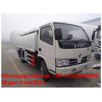 China Factory sale best price Dongfeng 4*2 RHD stainless steel 5,000Liters oil dispensing truck, refueler truck for sale on sale