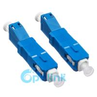 High Precision Alignment Fiber Optic Adapter Connector RL >50dB Blue Color Manufactures