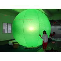 China Printing Logo 4.6m / 15.1ft  Inflatable LED Light Halogen Lamp With Different Color Balloon on sale