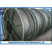 China Overhead Cable Stringing 28mm Pilot Wire / Pilot Rope Galvanized Steel Wire Rope on sale