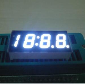 White Bright 4 Digits Numeric 7 Segment LED Displays For Car Clock Indicator Manufactures