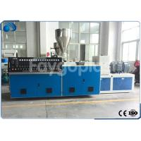 China Conical Twin Screw PVC Extruder Machine , Plastic Sheet Extrusion Line 250-380kg/h on sale