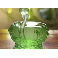 China Lucky Feng Shui Transparent 40mm Crystal Ball Ornaments on sale