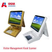 Muti-color Portable Desktop Visitor Management Kiosk Touch Screen Bank Payment Kiosks ZA-VM202 Manufactures