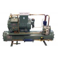 China 4DES-5Y Water Cooling Unit , Semi Enclosed Compressor Water Condensing Unit 5HP Long Lifespan on sale