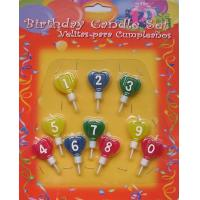 China happy birthday number candles on sale