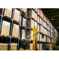 Quality Powder Coated Pallet Drive In And Drive Through Racking For Beverage Companies for sale