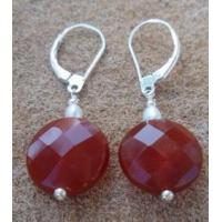 Carnelian Faceted Coin Earring Manufactures