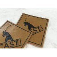 China Micro Injection Leather Garment Patch Brown Leather Hang Tags SGS BV on sale