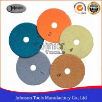 China 5 Step Dry Use Diamond Floor Polishing Pad With Resin Bond Material DSC-100 on sale