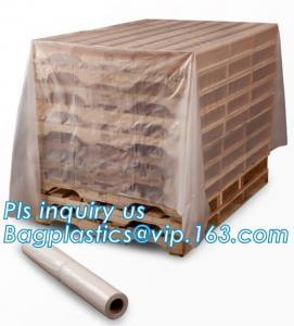 moisture proof reusable virgin plastic pallet cover, poly square bottom bag pallet top cover bags plastic vinyl cover fo Manufactures