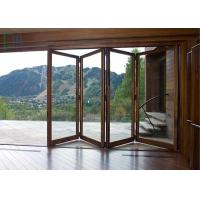 Quality Fire Proof Aluminium Bifold Patio Doors , Residential Folding Doors With Louver for sale