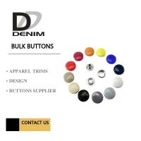 Metal Shiny Lacquer Buttons And Snaps 4 Parts Painted Color DTM Fabric Manufactures