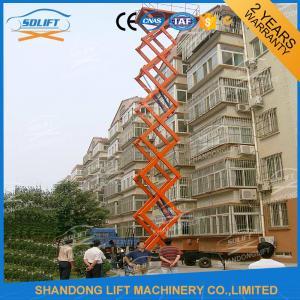 China 1000kgs 10m Mobile Manual Hydraulic Scissor Lift Table 1T 4 Wheel Mobile Lift on sale