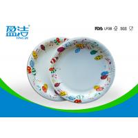 9 Inch Colored Disposable Paper Plates With Shiny Oil Coated Surface Manufactures