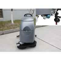 Two Brushes Commercial Floor Cleaning Machines With Solution Level Checking Hose Manufactures