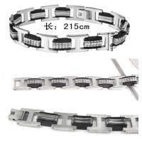 Fashion mens jewelry men bracelet stainless steel Silicon bracelets wholesale jewellery Manufactures