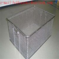 Medical instrument cleaning baskets stainless steel wire mesh/Sterilization Wire Mesh Trays Baskets Manufactures