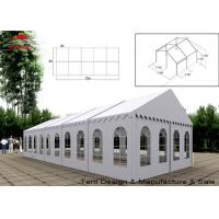UV Resistant White Commercial Event Tent With Windows , Span Width 3m - 40m Manufactures