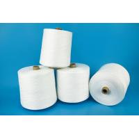 Paper Cone Ring Spun Polyester Yarn Raw White Bright Color High Strength Manufactures