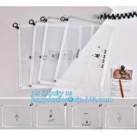 durable clear PVC Slider zipper stand up bag, 100% oxo boidegradable clear pvc slider zip bags, Frosted plastic bag with Manufactures