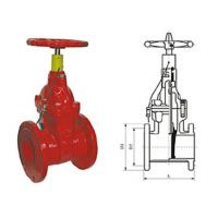 Special fire signal resilient seated gate butterfly valve pressure 1.0 - 2.5MPa Manufactures