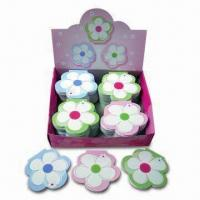 Flower-shaped Sticky Note Pads, Measures 6 x 6 x 2cm, with 4-side Color Printing and Sticky Header Manufactures