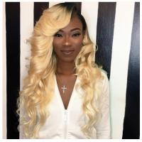 100% Peruvian Ombre Human Hair Extensions 1b / 613 Blonde Color Manufactures