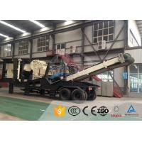 Customized Mobile Stone Crusher Plant With Steel Diesel , Mobile Jaw Crusher Manufactures