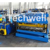 Quality 3D Step Tile Roll Forming Machine , Glazed Roof Panel Roll Forming Machine for sale