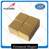 China 5*5*5mm Magic Neodymium Permanent Magnets Cube Gold Coating / Plating on sale