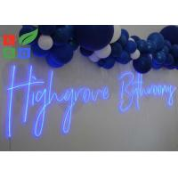 China Lovely Wedding And Party Led Neon Signs With Clear Acrylic Backing For Wall Mounting on sale