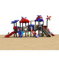 China Durable Plastic Childrens Slide , Outdoor Plastic Playsets Carton House Theme on sale
