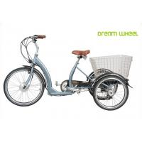 Quality Long Range Electric Trike Bicycle , 3 Wheel Cargo Bike With Removable Battery for sale