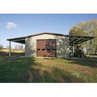 China Contemporary Prefab Steel Houses / Pre Engineered Metal Building Homes With Cantilever on sale
