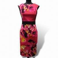 Shift Dress, Fashionable Design, Made of 97% Cotton and 3% Spandex Printed Fabric Manufactures