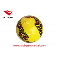 TPU Hand Stitched Soccer Ball Size 5 with rubber bladder , red and white soccer ball Manufactures