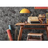 Stone Printing Chinese Style Washable Vinyl Wallpaper For Interior Room Decoration Manufactures