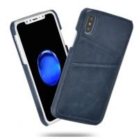 Quality Slim Custom PU Leather Back Cell Phone Cases Cover Skin with Credit Card Holder for iPhone X for sale