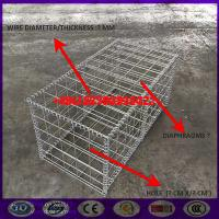 2x1x0.15m Hot dipped galvanized Gabion Stone Box Mesh for landscape Manufactures